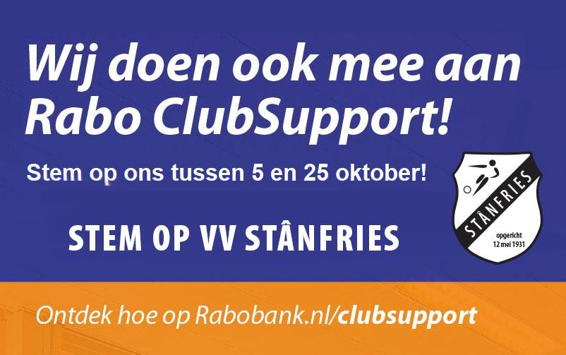Rabobank Clubsupport 2021 - Stemmen is nu mogelijk!