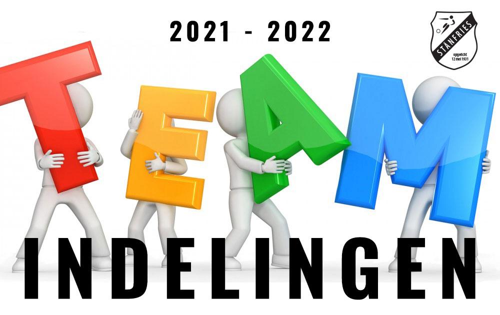 TEAMINDELINGEN 2021-2022