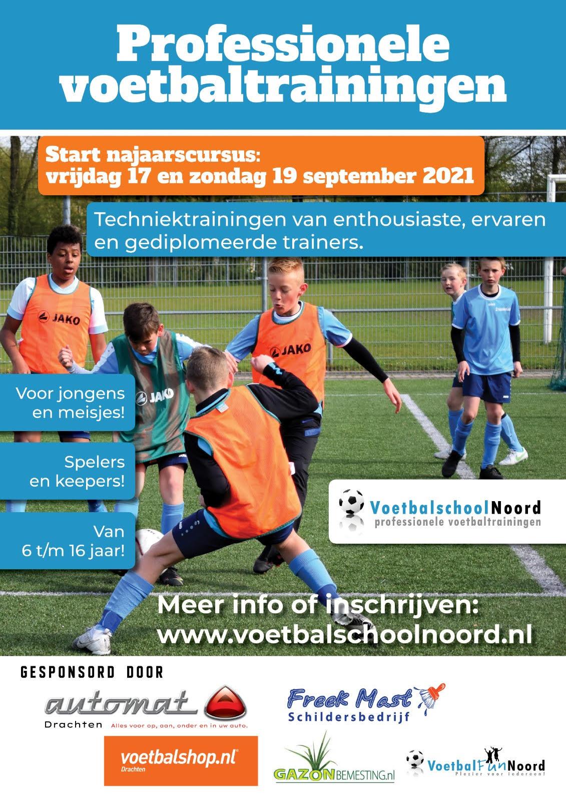 Najaarscursus 2021 Voetbalschool Noord
